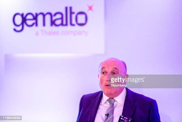 Howard Berg managing director of Gemalto NV speaks during the launch of the National Westminster Bank Plc biometric debit card in London UK on...