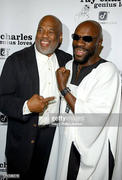 Howard Bingham and Isaac Hayes during 'Jammin for Ray' PostGRAMMY Party at Spago's in Beverly Hills United States