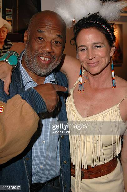 Howard Bingham and Lisa Eisner during Lisa Eisner Gallery Opening at MB April 22 2006 at MB Gallery in West Hollywood California United States