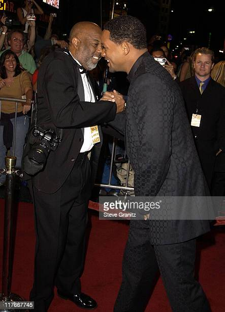 Howard Bingham and Will Smith during Muhammad Ali's 60th Birthday Celebration in Hollywood at Kodak Theater in Hollywood California United States