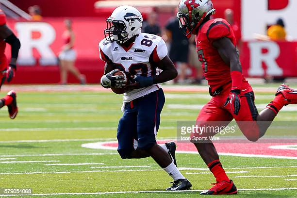 Howard Bison wide receiver Robert Mercer during the game between the Rutgers Scarlet Knights and the Howard Bison played at High Point Solutions...
