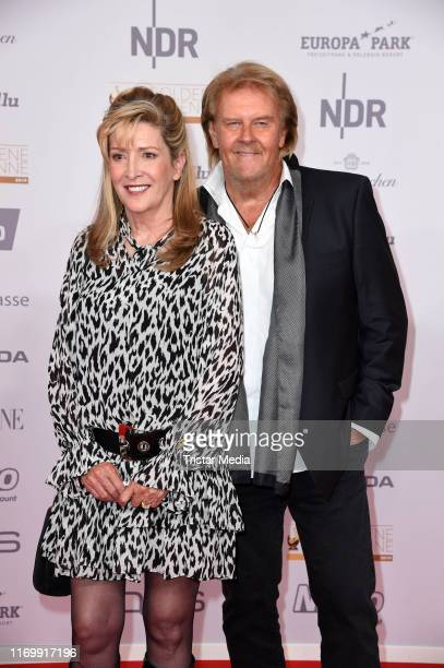 Howard Carpendale and his wife Donnice Pierce attend the 'Goldene Henne' red carpet at Messe Leipzig on September 20 2019 in Leipzig Germany