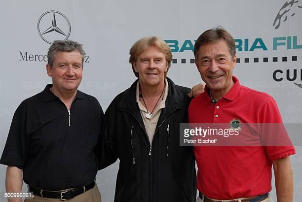 Howard Carpendale Frank Wössner Dr Matthias Esche GolfVeranstaltung Bavaria Film Cup 2007 Golfclub München Riedhof München Bayern Deutschland Europa...