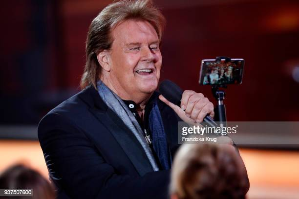 Howard Carpendale performs during the tv show 'Willkommen bei Carmen Nebel' on March 24 2018 in Hof Germany The show will be aired on March 24 2018