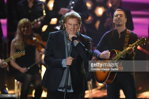 Howard Carpendale performs on stage during the taping of the show 50 Jahre Hitparade on April 12 2019 in Offenburg Germany The show will air on ZDF...