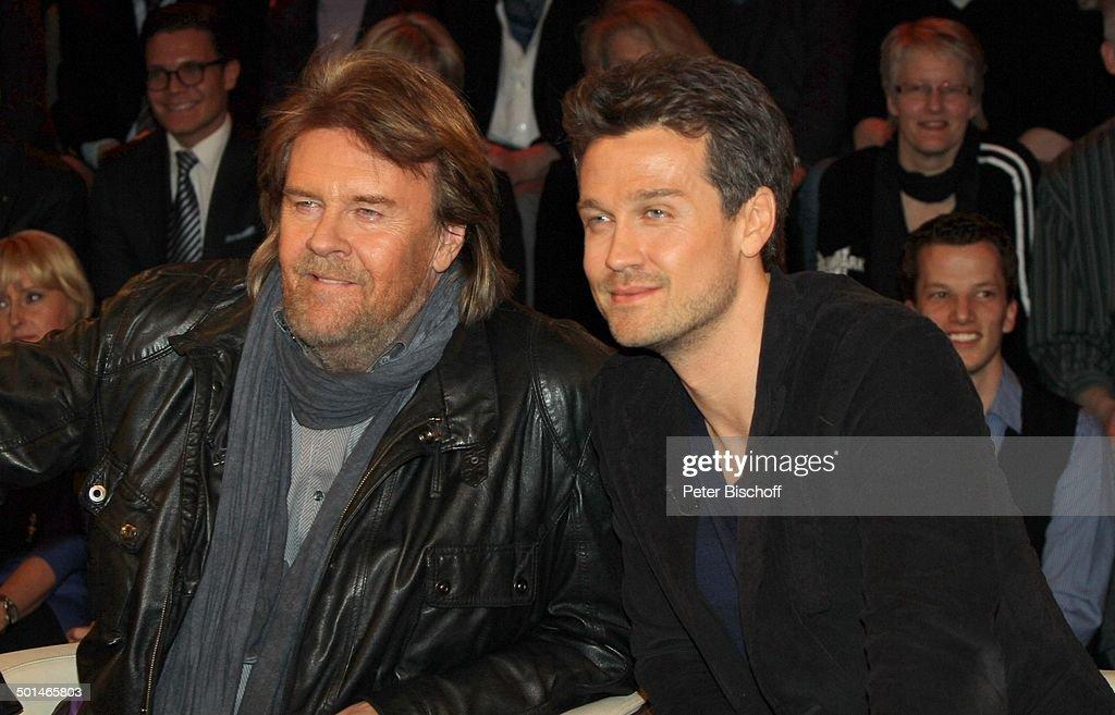 "Howard Carpendale (links), Sohn Wayne, ZDF-Talkshow ""Markus Lanz"", Hamburg-Bahrenfel : News Photo"