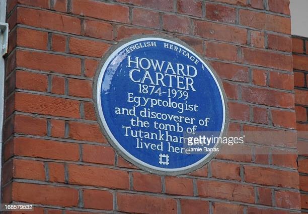CONTENT] Howard Carter discover of the tomb of Tutankhamun blue plaque Laverton Place SW5 Earls Court London