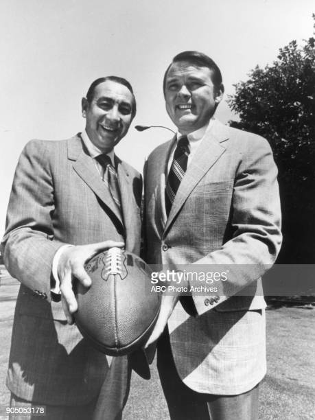 Howard Cosell and Keith Jackson get ready for nighttime football