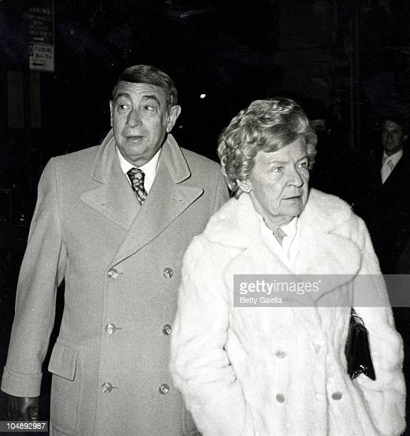 Howard Cosell and Mary Edith Abrams during Woody Allen's New Years Eve Party at Harkness House in New York City New York United States