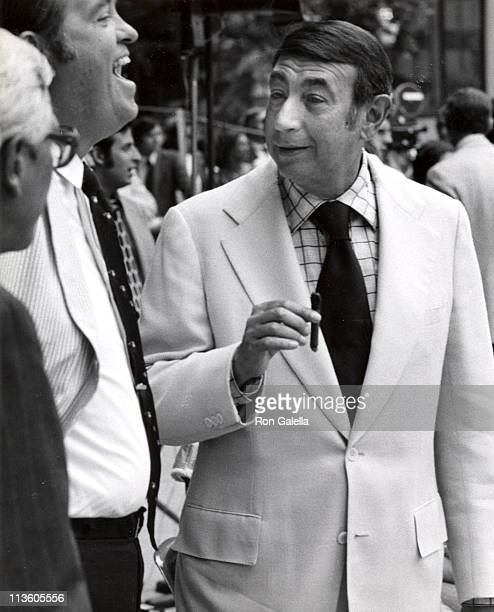 Howard Cosell during 1974 RFK ProCelebrity Tennis Tournament at Seagram Plaza in New York City NY United States