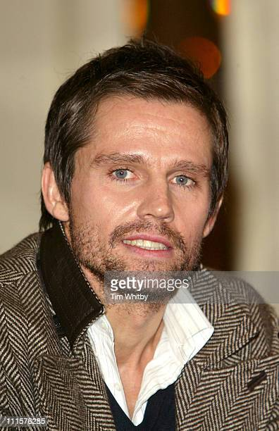Howard Donald of Take That during Take That Press Conference November 25 2005 at The Berkley Hotel in London Great Britain