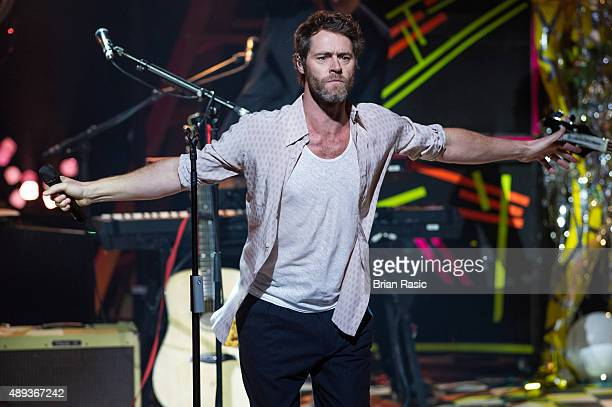 Howard Donald of Take That performs during the 2015 Apple Music Festival at The Roundhouse on September 20 2015 in London England