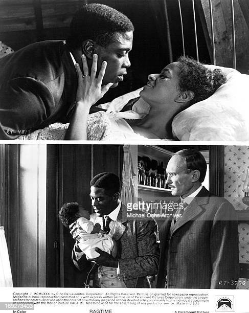 Howard E Rollins Jr Debbie Allen and James Olson in various scenes from the film 'Ragtime' 1981 Photo by Paramount/Getty Images