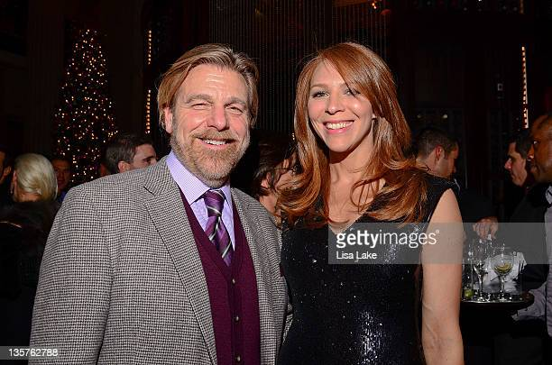 Howard Eskin and Kristin Munro attend the Philadelphia Style Magazine cover event hosted by Melania Trump at Ritz Carlton Hotel on December 13 2011...