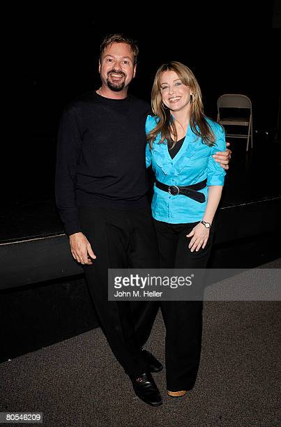Howard Fine and Cynthia Bain attend the Hollywood Camp Electric Youth Auditions at the Howard Fine Studios on April 6 2008 in Hollywood California
