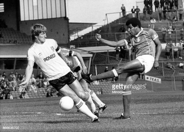 Howard Gayle lets fly for Blues at St Andrew's Birmingham City v Ipswich Town League Division One Final score 10 to Birmingham City 17th September...