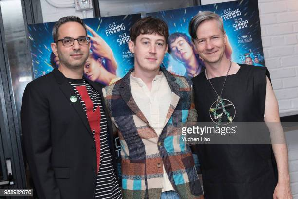 Howard Gertler Alex Sharp and John Cameron Mitchell attend 'How To Talk To Girls At Parties' New York Premiere at Metrograph on May 15 2018 in New...
