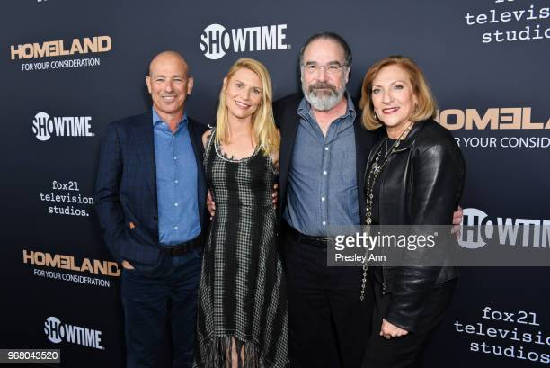 Howard Gordon Claire Danes Mandy Patinkin and Lesli Linka Glatter attend FYC Event For Showtime's 'Homeland' Red Carpet at Writers Guild Theater on...