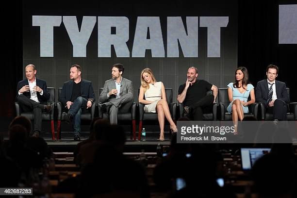 Howard Gordon, Executive Producer/Showrunner, Gideon Raff, Executive Producer/Creator, actors Adam Rayner, Jennifer Finnigan, Ashraf Barhom, Moran...