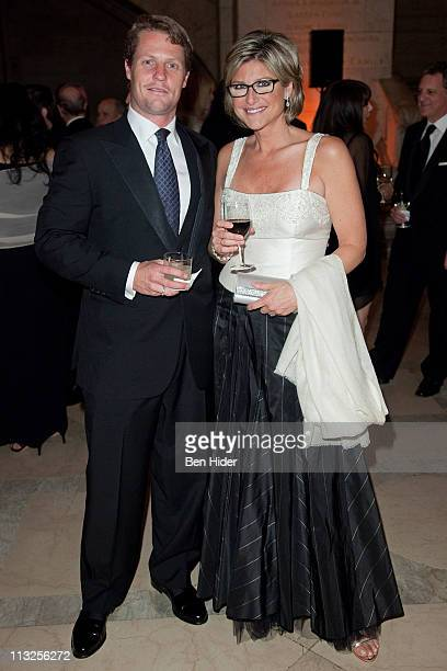 Howard Gould and Ashleigh Banfield attend the Municipal Art Society of New York's 2011 gala at The New York Public Library on April 28 2011 in New...
