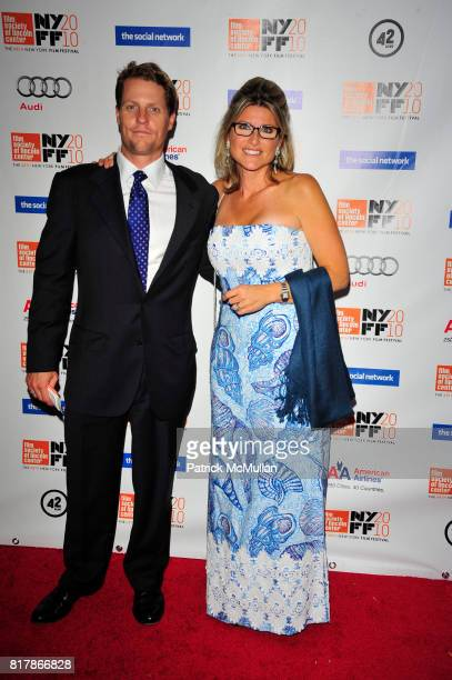 Howard Gould and Ashley Banfield attend THE SOCIAL NETWORK redcarpet arrivals at Alice Tully Hall Lincoln Center NYC on September 24 2010 in New York...