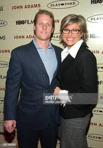 Howard Gould and TV Correspondant Ashleigh Banfield attends the HBO Premiere of John Adams at The Museum Of Modern Art in New York City on March 3...