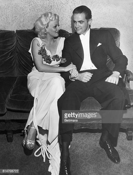 Howard Hughes and Jean Harlow shown together for the first time since making Hell's Angels together.