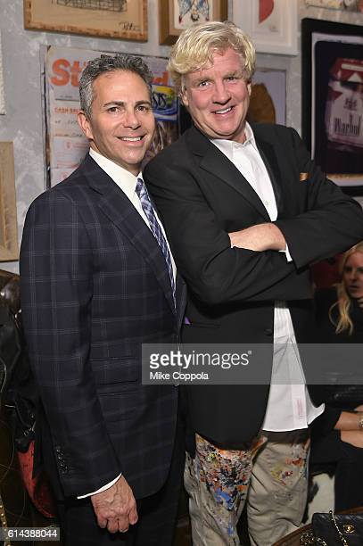Howard Hughes Corporation David Weinreb and Artist Peter Tunney attend iPic Theaters Fulton Market Opening Gala at the Seaport District / Screening...
