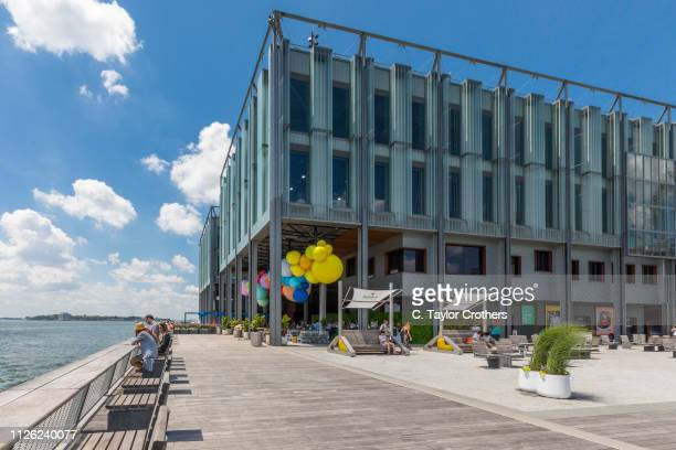 Howard Hughes Corporation's redevelopment of Pier 17, in New York City's South Street Seaport district, is completed on June 29th, 2018 in New York...