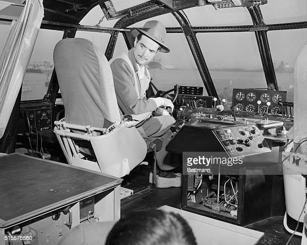 Howard Hughes makes preparations for the historic flight of the Spruce Goose.