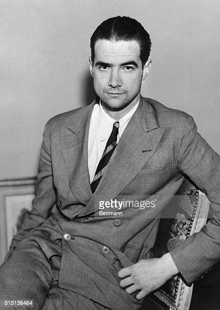 Howard Hughes millionaire Hollywood film producer shown in his New York hotel after a good night's rest He needed the rest because he had shattered...