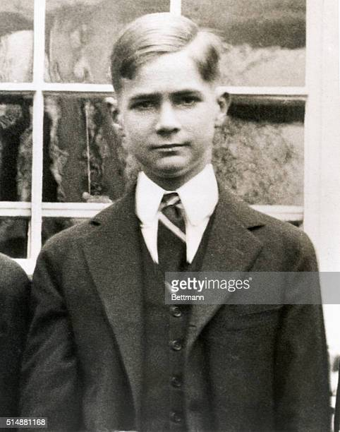 Howard Hughes when he was a young man. Undated photograph.
