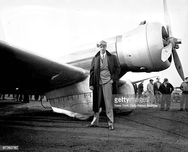 Howard Hughes with plane.