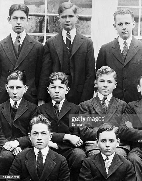 Howard Hughes with schoolmates at Fessenden School.
