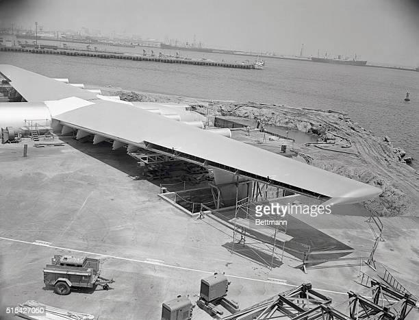 Howard HughesSpruce GooseNearing Completion | Location Terminal Island California USA