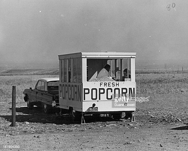 Howard Hutchinson Serves Sunday Drivers At Popcorn Wagon; He gets lots of business at the intersection of State Highways 72 and 93.;