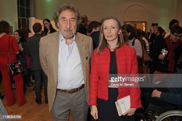 Howard Jacobson and Anna Burns attend the press night after party for Nigel Slater's The 2019 Man Booker International Prize shortlist announcement...