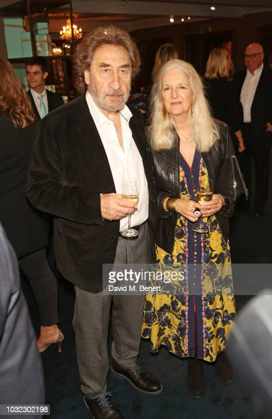 Howard Jacobson and Jenny De Yong attend a drinks reception to celebrate the launch of the third annual Fortnum's x Frank exhibition at Fortnum Mason...