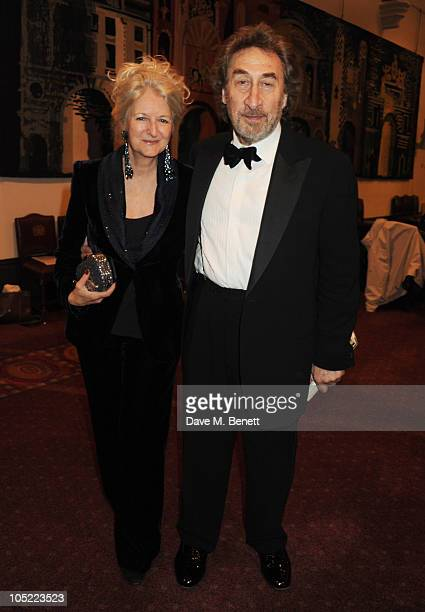 Howard Jacobson and Jenny De Yong attend the 2010 Man Booker Prize dinner at Guildhall on October 12 2010 in London England
