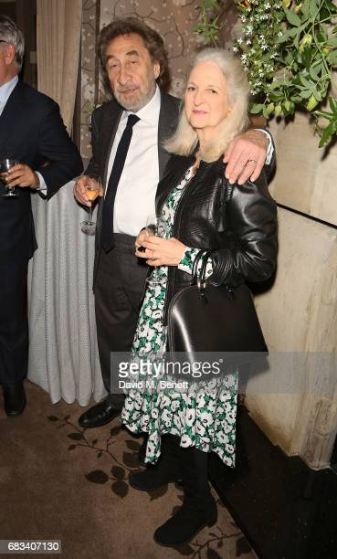Howard Jacobson and Jenny De Yong attend the launch of the Cliveden Literary Festival at 11 Cadogan Gardens hotel on May 15, 2017 in London, England.