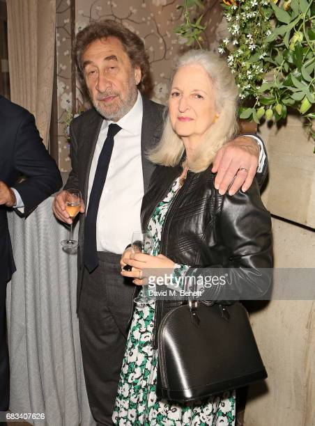 Howard Jacobson and Jenny De Yong attend the launch of the Cliveden Literary Festival at 11 Cadogan Gardens hotel on May 15 2017 in London England