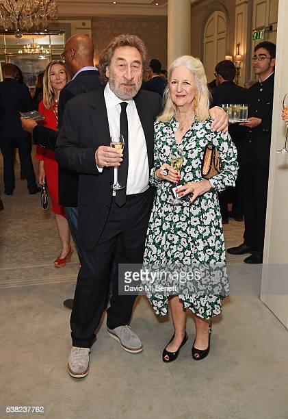 Howard Jacobson and Jenny De Yong attend the The South Bank Sky Arts Awards airing on Wednesday 8th June on Sky Arts at The Savoy Hotel on June 5...