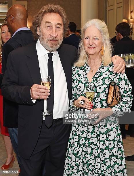 Howard Jacobson and Jenny De Yong attend the The South Bank Sky Arts Awards, airing on Wednesday 8th June on Sky Arts, at The Savoy Hotel on June 5,...