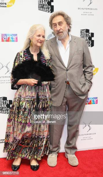 Howard Jacobson and Jenny De YongÊattend The South Bank Sky Arts Awards 2018 at The Savoy Hotel on July 1, 2018 in London, England. Airing on 4th...