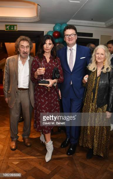 Howard Jacobson Ronni Ancona Ewan Venters and Jenny De Yong attend the launch of the Fortnum Mason Christmas Other Winter Feasts cookbook by Tom...