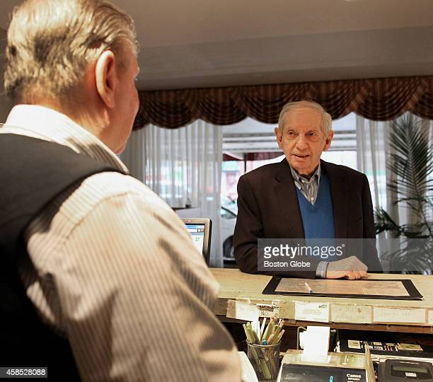 Howard Johnson Hotel owner Bob Sage, right, spoke with manager Paul Dunleavy on November 22, 2013. The hotel, located on Boylston Street near Fenway,...