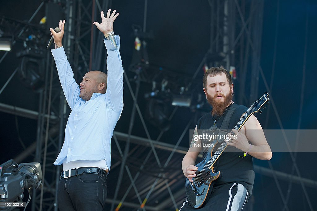 Howard Jones of Killswitch Engage performs on stage on the first day of the Download Festival at Donington Park on June 11, 2010 in Derby, England.