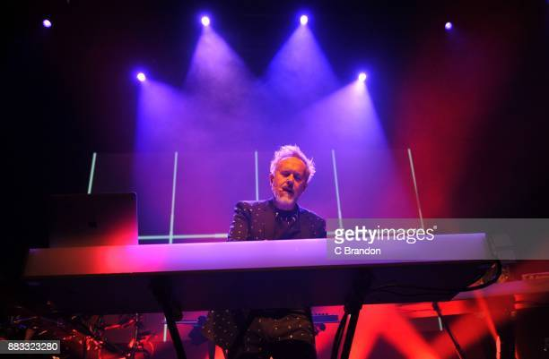 Howard Jones performs on stage at the O2 Shepherd's Bush Empire on November 30 2017 in London England