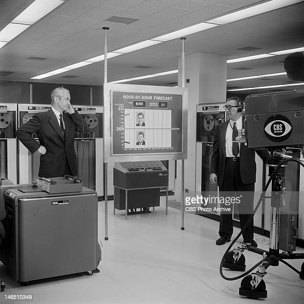 Howard K Smith left reporting from the IBM Headquarters on the 1960 election night coverage Image dated November 8 1960