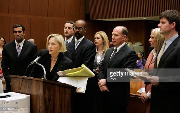 Howard K Stern longtime confidant of Anna Nicole Smith and Dr Sandeep Kapoor and Dr Khristine Eroshevich as Ellyn S Garofalo lawyer for Kapoor speak...